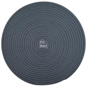 Round Woven Cotton Placemat - Dark Grey - Placemat - DYS Indoor
