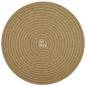 Round Woven Cotton Placemat - Natural - Placemat - DYS Indoor