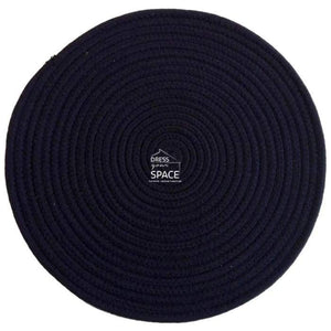 Round Woven Cotton Placemat - Navy Blue - Placemat - DYS Indoor