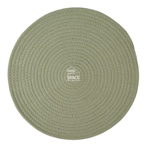 Round Woven Cotton Placemat - Steel - Placemat - DYS Indoor
