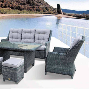 San Antonio 6 Piece Set - Castle Grey - Outdoor Lounge - DYS Outdoor