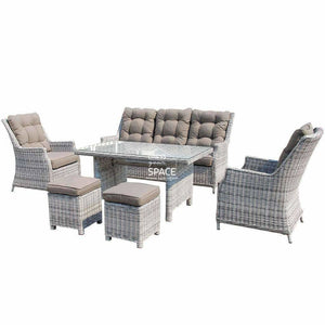 San Antonio 6 Piece Set - Zen White - Outdoor Lounge - DYS Outdoor
