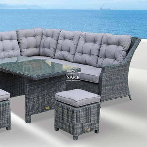 San Antonio Modular - Castle Grey - Outdoor Lounge - DYS Outdoor