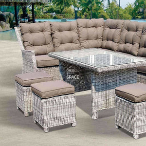 San Antonio Modular - Zen White - Outdoor Lounge - DYS Outdoor