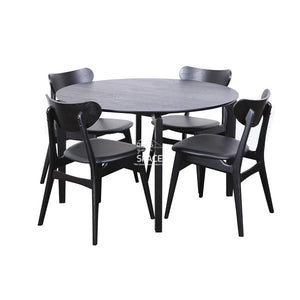 Scandi Round Table & Martina Chairs - 5 Piece Dining Set - Indoor Setting - DYS Indoor