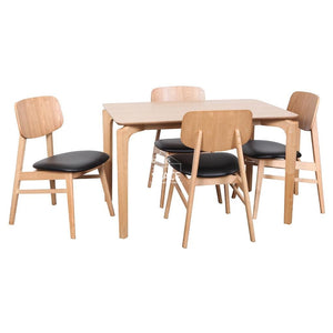 Scandi Table & Gemma Chairs - 5 Piece Dining Set - Indoor Setting - DYS Indoor