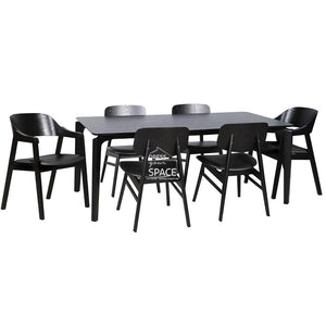 Scandi Table & Gemma/Dakota Chairs - 7 Piece Dining Set - Indoor Setting - DYS Indoor