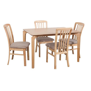 Scandi Table & Mary Chairs - 5 Piece Dining Set (Nat/Wheat) - Indoor Setting - DYS Indoor
