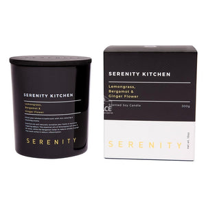 Serenity Kitchen Candle - Lemongrass Bergamot & Ginger Flower - Candle - Serenity Candles