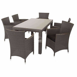 Stanley Table / Chevron Chair Dining Set - Outdoor Dining Set - DYS Outdoor