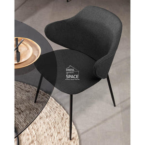 Suanne Chair - Graphite - Indoor Dining Chair - La Forma