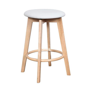 Tait Stool - Natural/White PU - Indoor Counter Stool - DYS Indoor