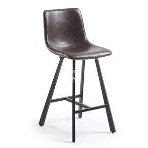 Trac Stool - Dark Brown PU - Indoor Counter Stool - La Forma