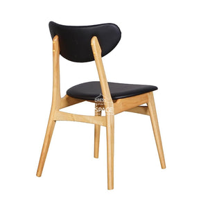 Valentina Chair - Natural/Black PU - Indoor Dining Chair - DYS Indoor