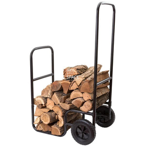 William Outlaw Bill Moore Log Trolley - Wood Trolley - DYS Fireplace Accessories