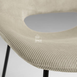 Ziggy Chair - Beige Corduroy - Indoor Dining Chair - La Forma
