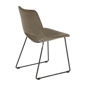 Ziggy Chair - Brown Corduroy - Indoor Dining Chair - La Forma