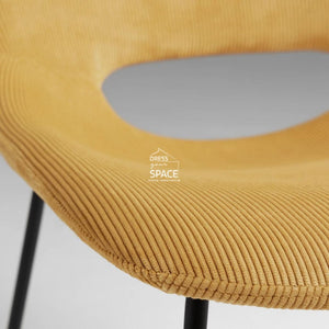 Ziggy Chair - Mustard Corduroy - Indoor Dining Chair - La Forma