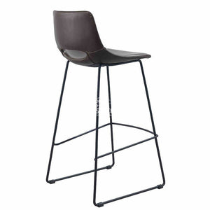 Ziggy Stool - Dark Brown PU - Indoor Counter Stool - La Forma