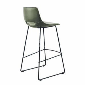 Ziggy Stool - Green PU - Indoor Counter Stool - La Forma