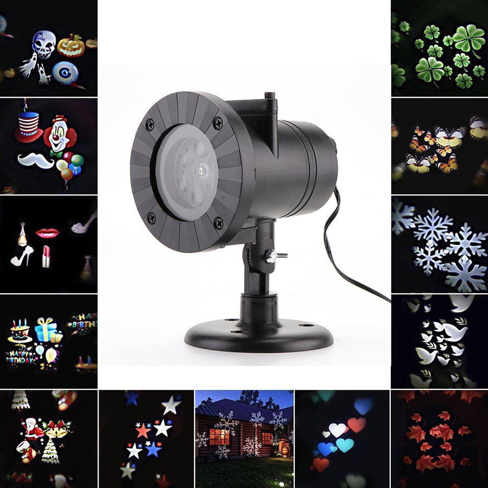 12 Patterns Christmas Laser Projector