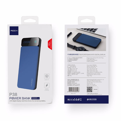 Portable Power Bank With Projected Display