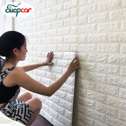 Image of 3D Brick Wall Luxury Design