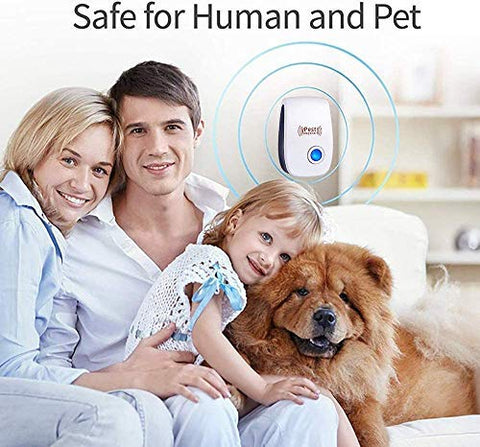 Image of GoldTech Ultrasonic Pest Repeller 4 Pack 2020 Upgraded 100% Safe Electronic Pest Control Ultrasonic Repellent Indoor Plug-in Repellent for Bed Mosquitos, Mice, Cockroach, Spider, Ant, Bug and Insect