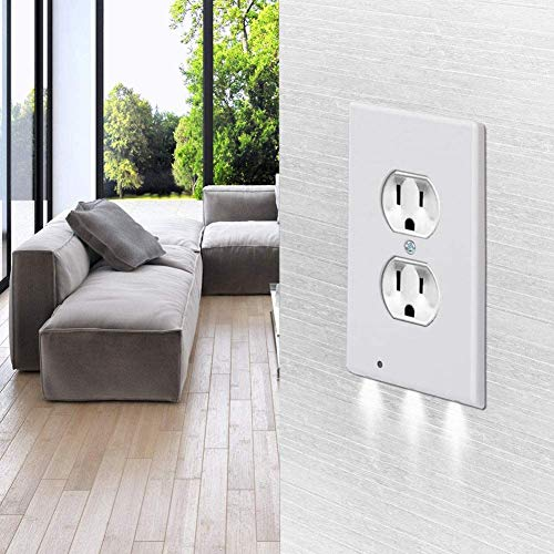 GoldTech Products Duplex Night Cherub, Lighted Wall-Outlet Coverplate, Turn Any Outlet Into A Night Light! Led Light Lasts 100,000 Hours. No Wiring, No Batteries, No Mess!