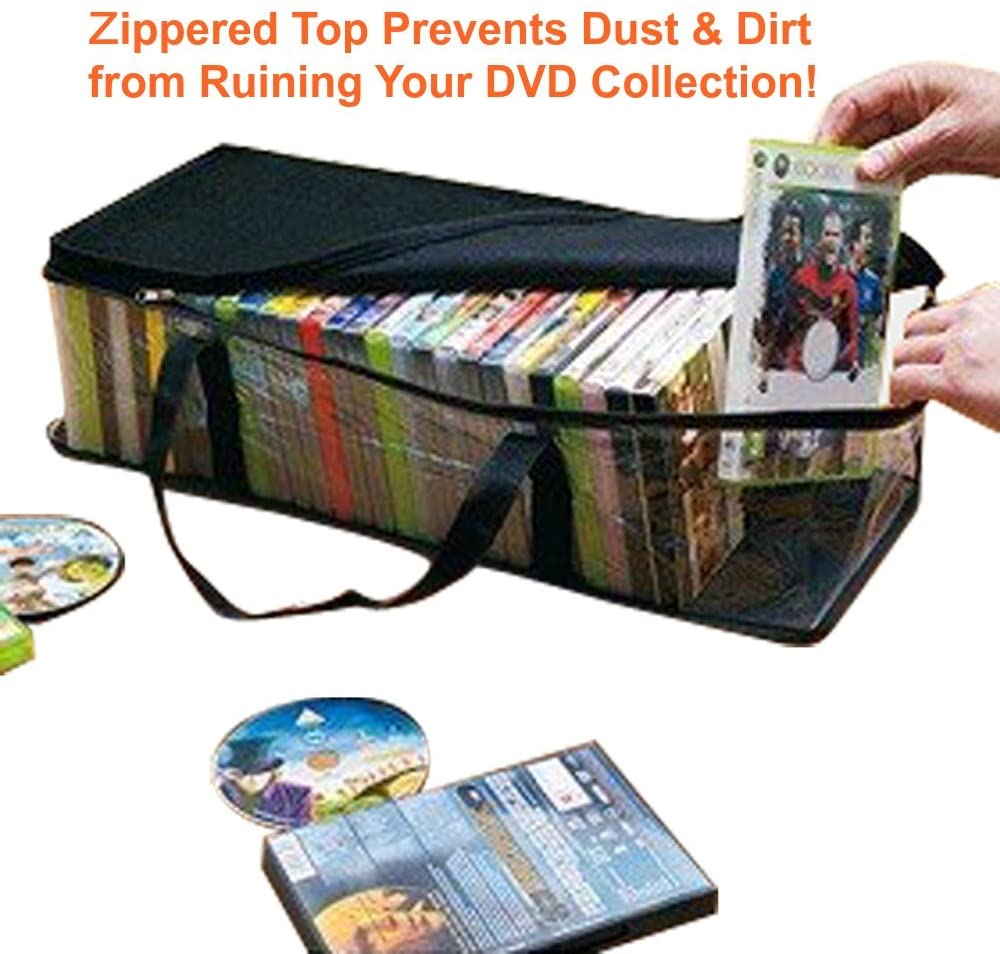 Zuitcase Handy Portable DVD Storage Bags - DVD Media Storage Bags Hold up to 40 Each Bag