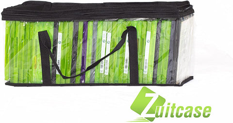 Image of Zuitcase Handy Portable DVD Storage Bags - DVD Media Storage Bags Hold up to 40 Each Bag