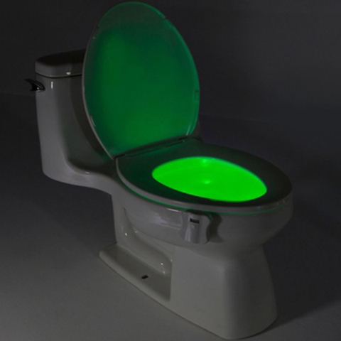 Image of 8-COLOR LED SENSORED TOILET POTLIGHT
