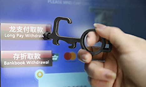 No-Touch Door Opener Key, EDC Tool with Conductive tip for Phones, Tablets, ATM Machines etc