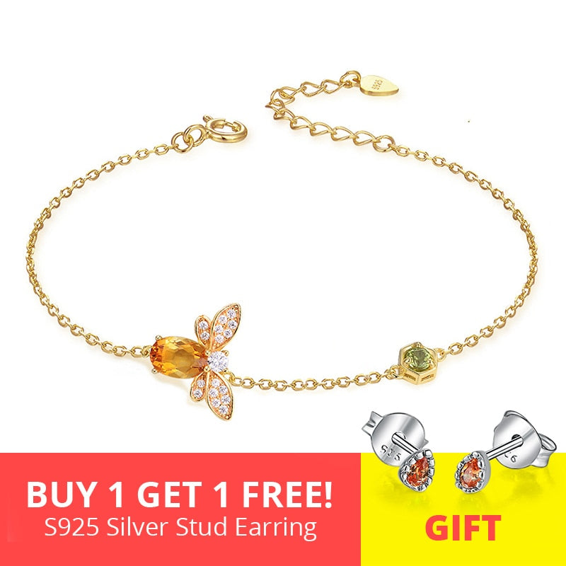 Honey-Gold Charm Bracelet