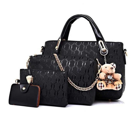 Image of 4 Piece Set Fashion Women Handbags
