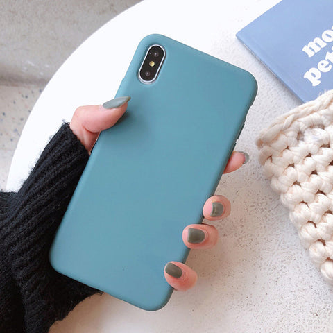 Image of Candy Color Phone Case For iPhone