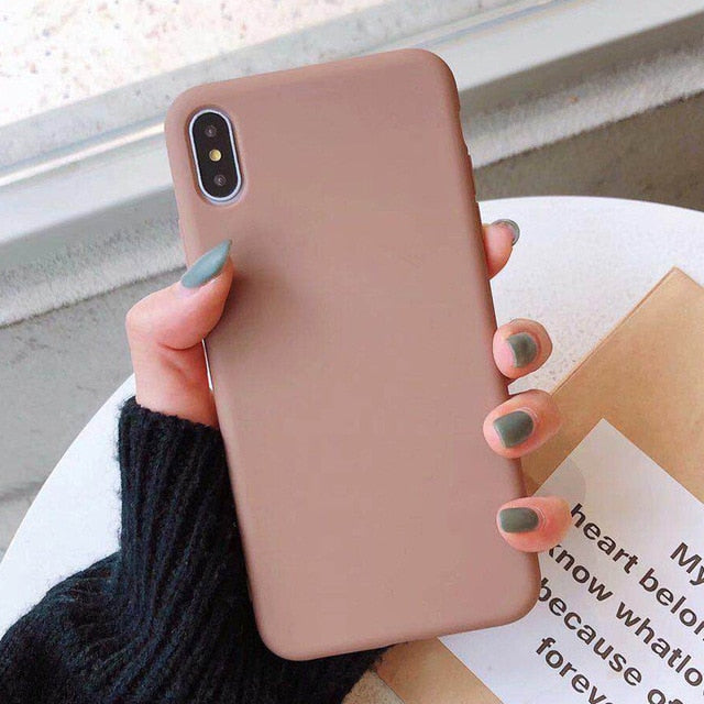 Candy Color Phone Case For iPhone