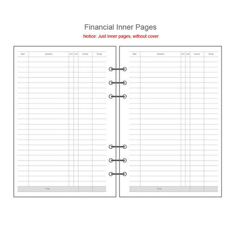 Image of Transparent Notebook Planner