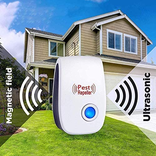 GoldTech Ultrasonic Pest Repeller 6 Pack 2020 Upgraded 100% Safe Electronic Pest Control Ultrasonic Repellent Indoor Plug-in Repellent for Bed Mosquitos, Mice, Cockroach, Spider, Ant, Bug, and Insect