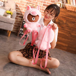 35cm Plush Pig Backpack / Toy (1 Piece)