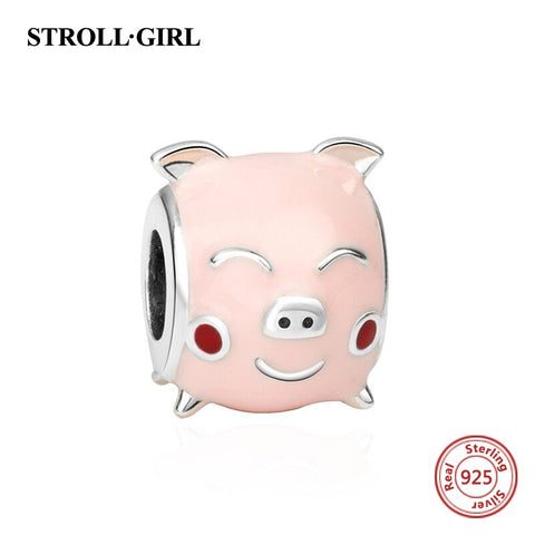 Cute Sterling Silver Pig Charms