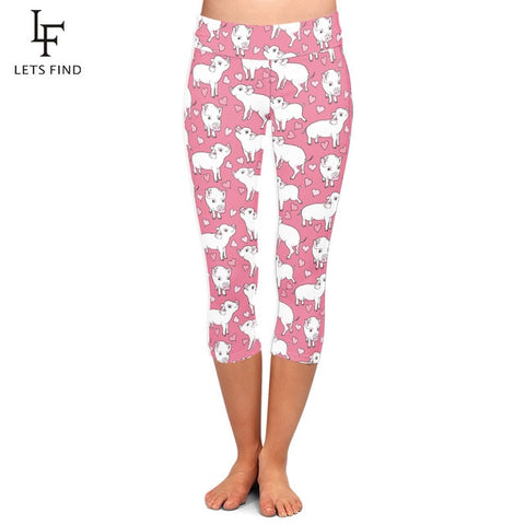 Pig Printed Pink Leggings