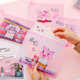 Pink Pig Transparent Storage Pouch