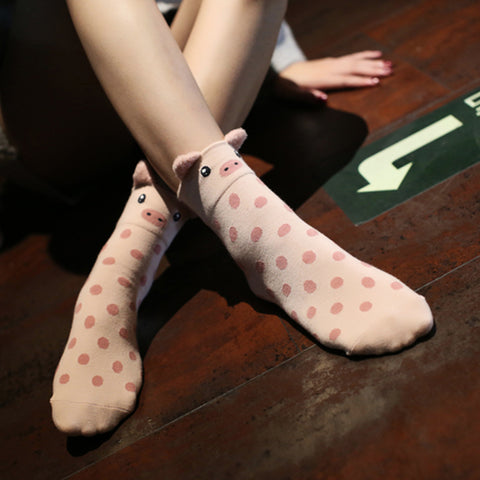 Cute Warm Pig Socks