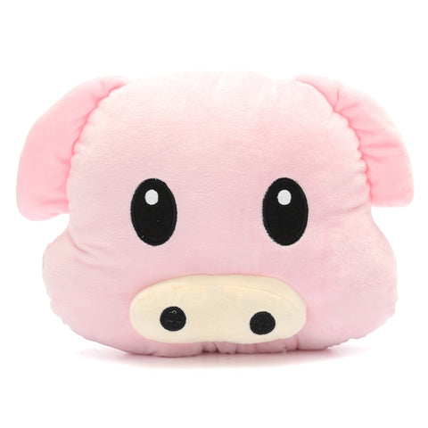 Piggy Emoticon Pillow Cushion - petsareawsm