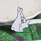 Bunny Metal Shirt Collar Pin