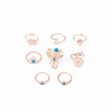 Retro Elephant Rings 8pcs /Pack Boho