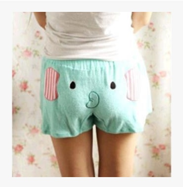 Woman Leisure Cartoon Shorts