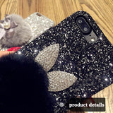 Luxury Glitter Bunny Mobile cover For iPhone 6 6S 7 8 Plus X - petsareawsm