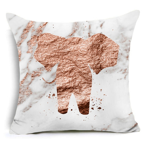 Marble Print Elephant Cushion Cover 43*43
